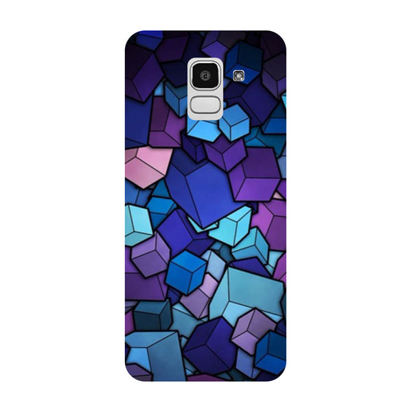 Cubes Samsung Galaxy J8 Back Cover-Hamee India