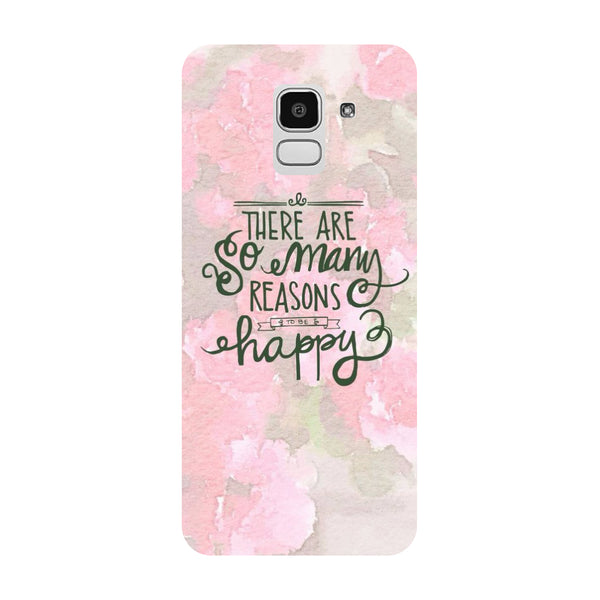 Be Happy Samsung Galaxy J8 Back Cover-Hamee India