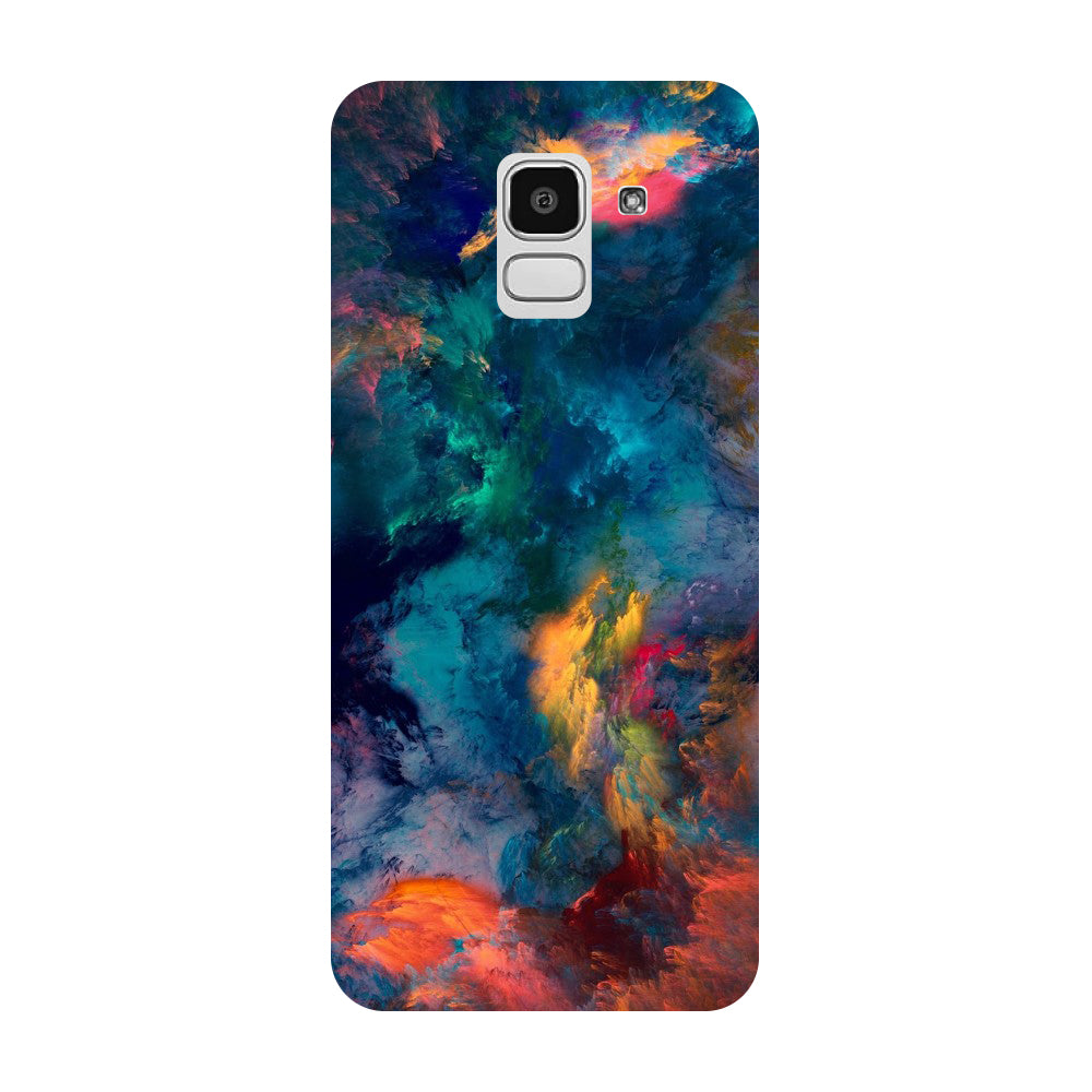 Abstract Fumes Samsung Galaxy J8 Back Cover-Hamee India