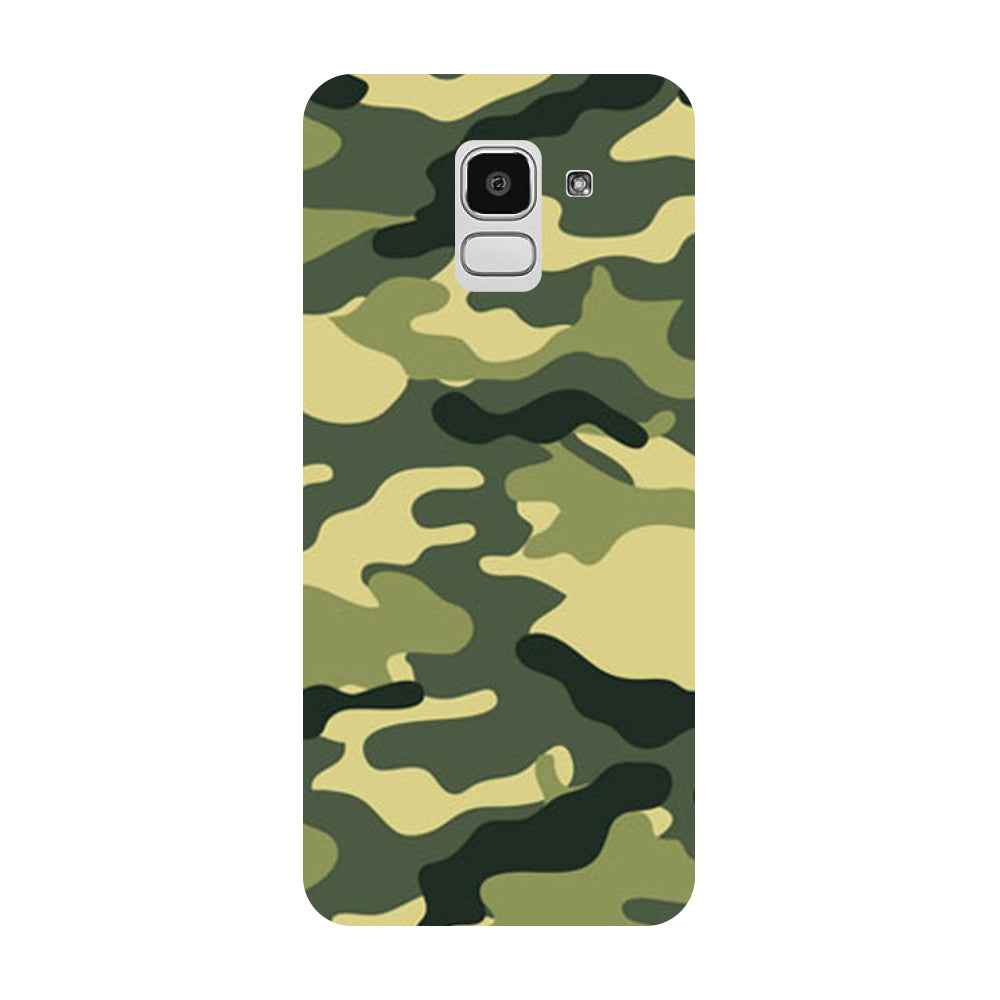 Hamee- Army Camouflage-Printed Hard Back Case Cover For Samsung Galaxy J8 (2018)