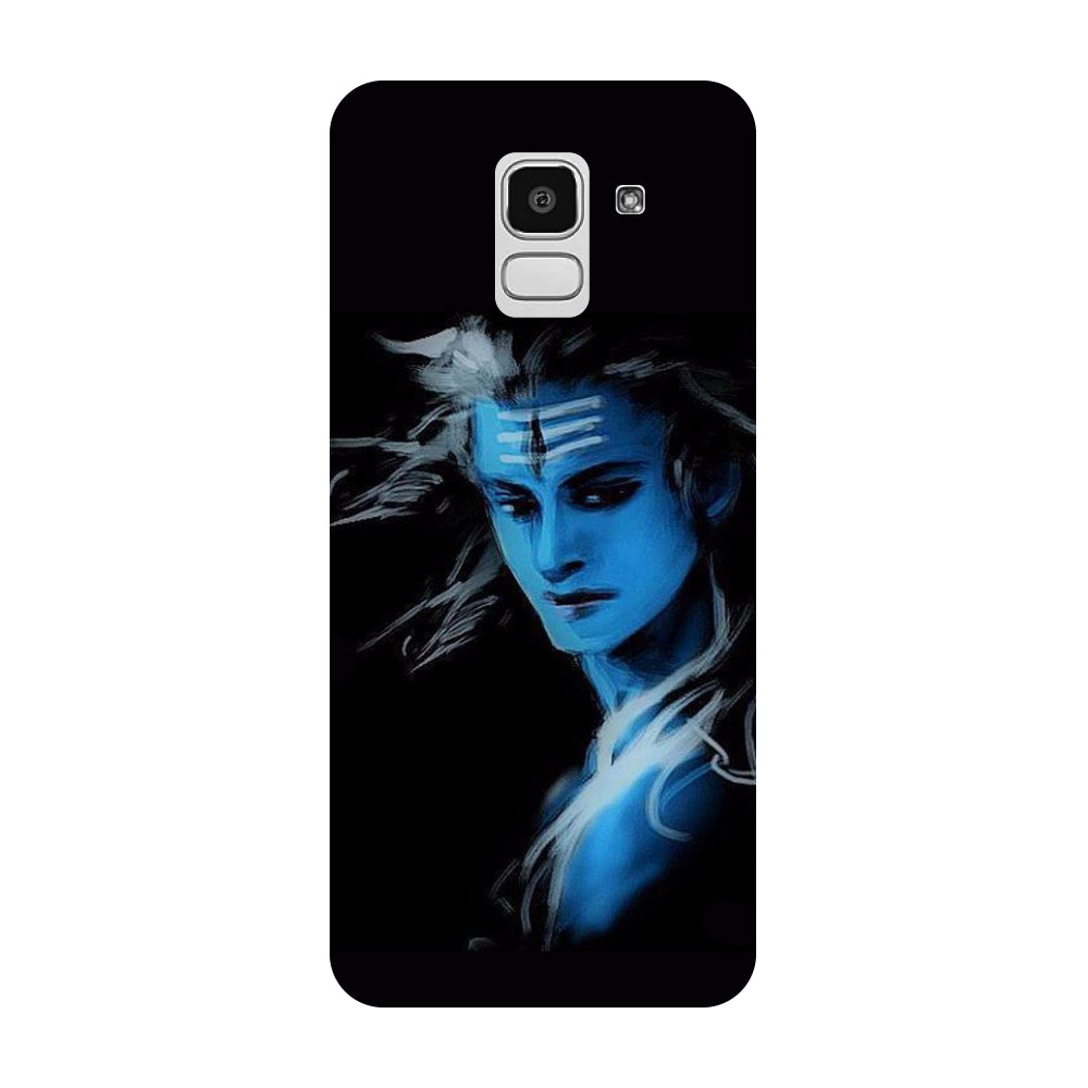 buy popular 08f58 c1817 Blue Black Shiva Samsung Galaxy J8 Back Cover