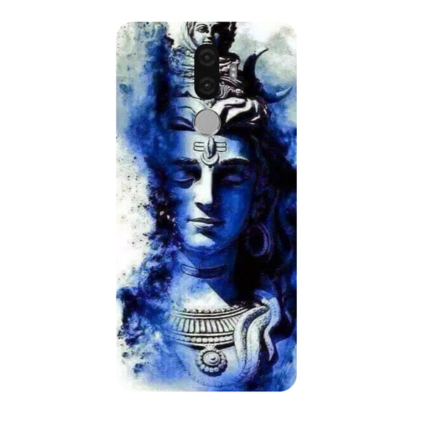 Hamee - Blue Shiv Ji - Designer Printed Hard Back Case Cover for Lenovo K8 Note-Hamee India
