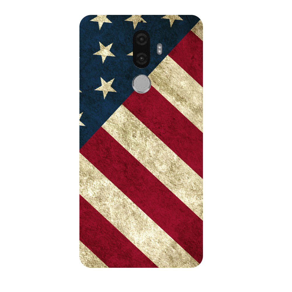 Hamee - US Flag - Designer Printed Hard Back Case Cover for Lenovo K8 Note