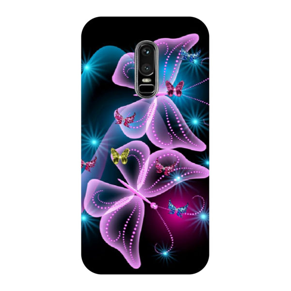 Gradient butterfly- Printed Hard Back Case Cover for OnePlus 6