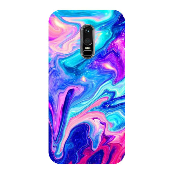 Abstract Paint OnePlus 6 Back Cover-Hamee India