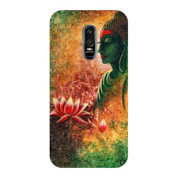 Buddha side pose- Printed Hard Back Case Cover for OnePlus 6
