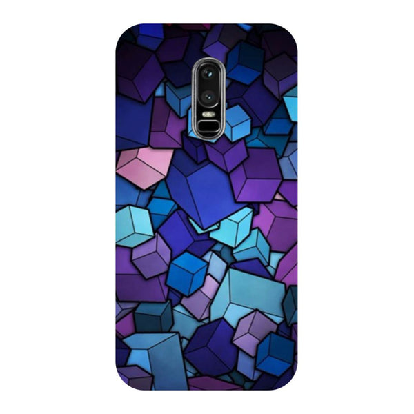 Cubes OnePlus 6 Back Cover-Hamee India