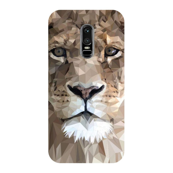 Lion abstract- Printed Hard Back Case Cover for OnePlus 6