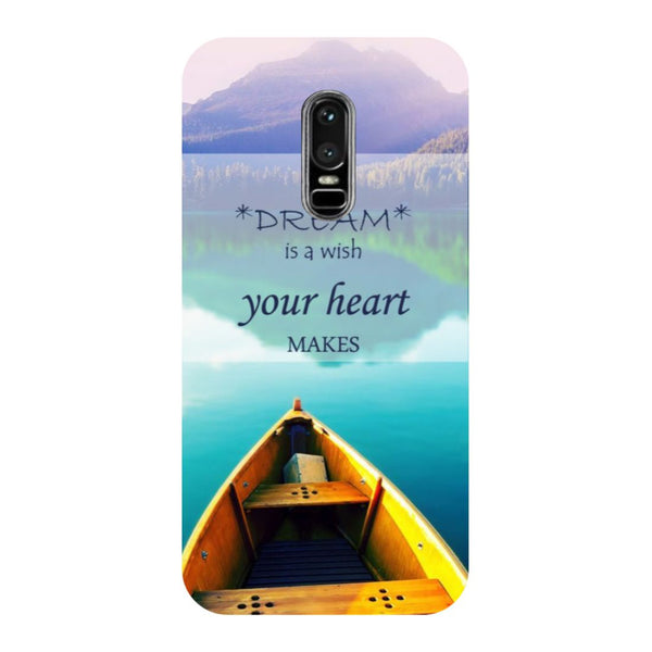 Boat- Printed Hard Back Case Cover for OnePlus 6