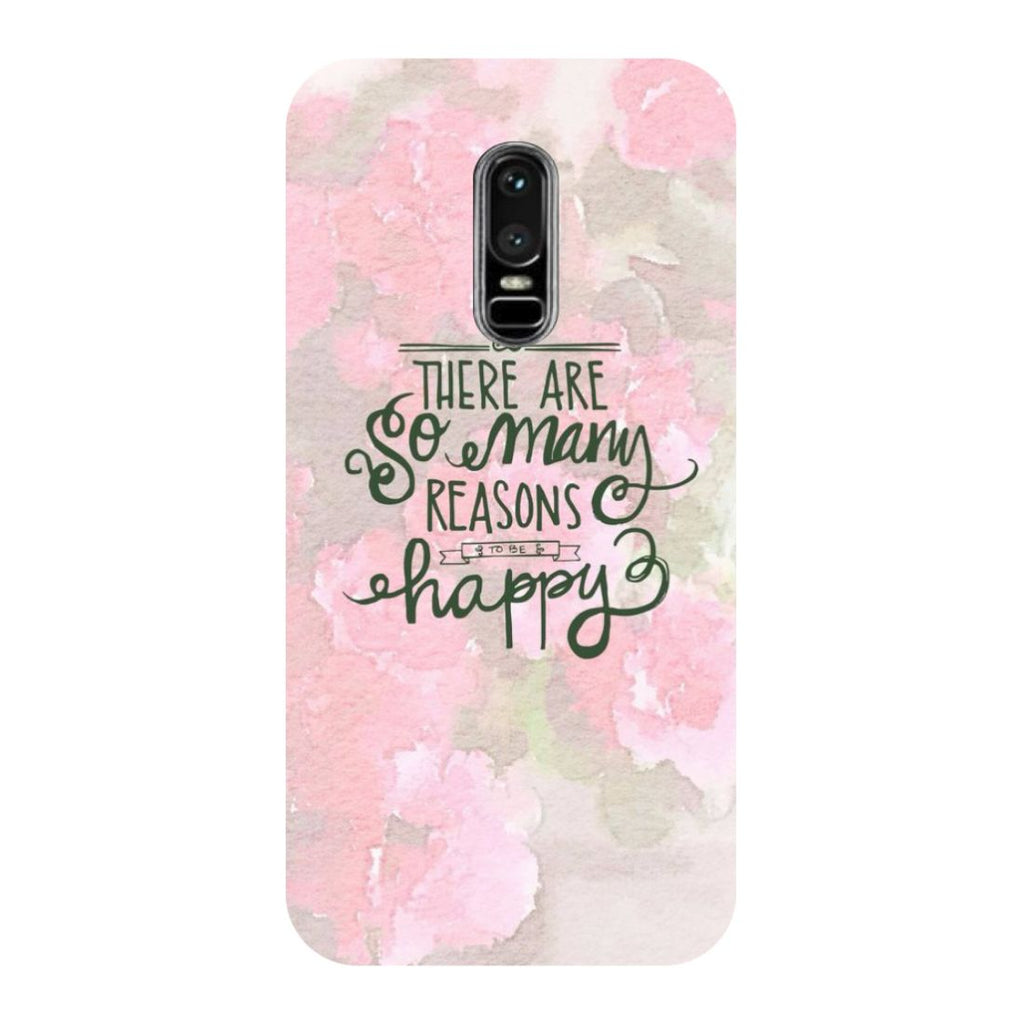 Be Happy OnePlus 6 Back Cover-Hamee India
