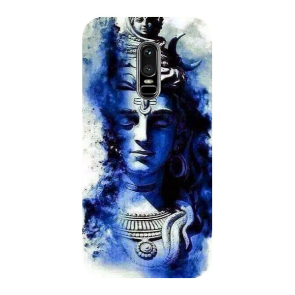 Blue shiva- Printed Hard Back Case Cover for OnePlus 6
