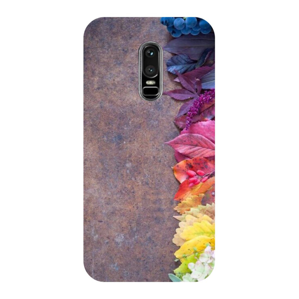 Side Flowers OnePlus 6 Back Cover-Hamee India