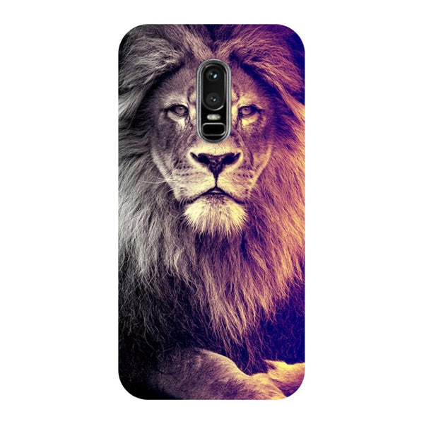 Lion- Printed Hard Back Case Cover for OnePlus 6