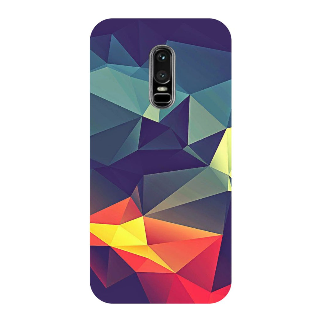 Abstract- Printed Hard Back Case Cover for OnePlus 6