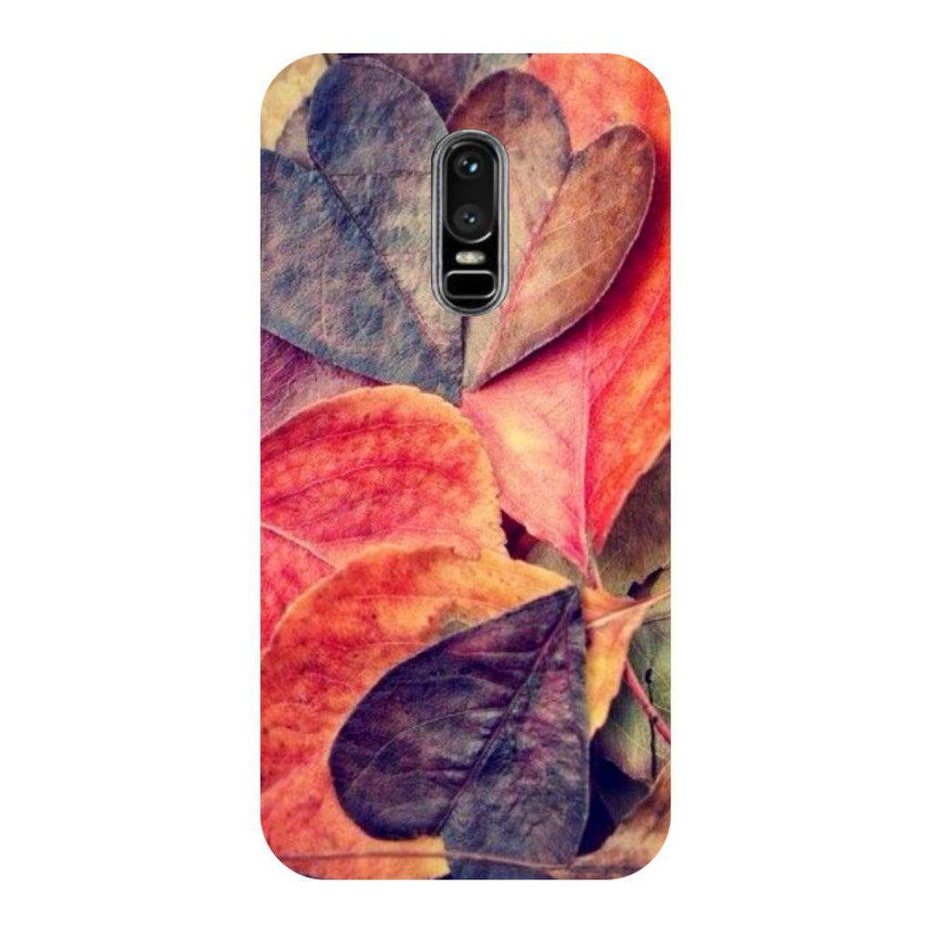 Heart Leaf OnePlus 6 Back Cover-Hamee India