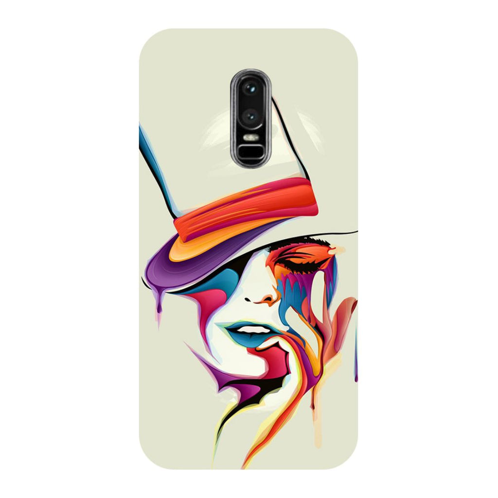 Girl Paint OnePlus 6 Back Cover-Hamee India