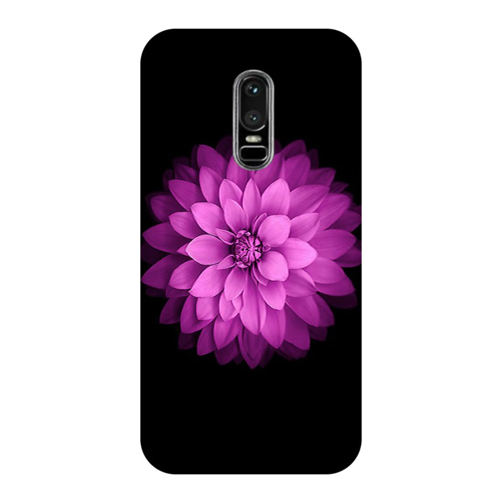 Flower Purple OnePlus 6 Back Cover-Hamee India