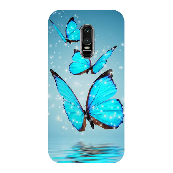 Blue Butterflies OnePlus 6 Back Cover-Hamee India