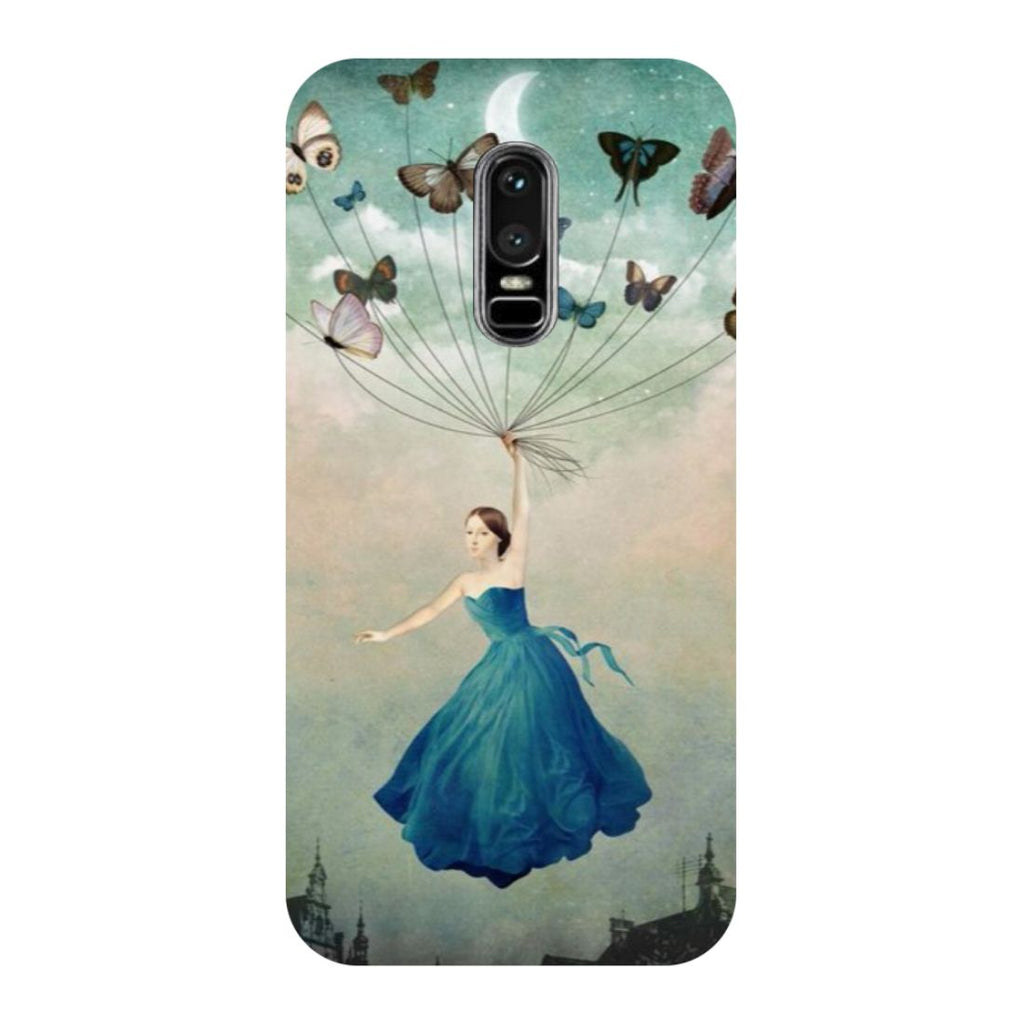 Girl Butterflies OnePlus 6 Back Cover-Hamee India