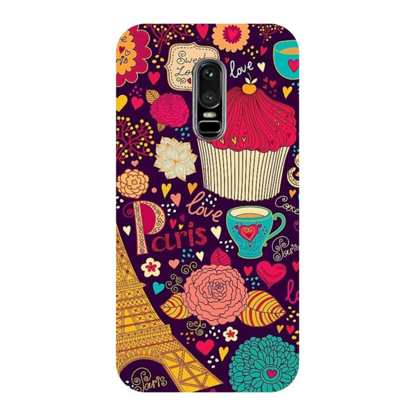 Cupcake- Printed Hard Back Case Cover for OnePlus 6