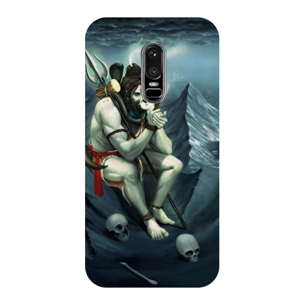 Aghori- Printed Hard Back Case Cover for OnePlus 6