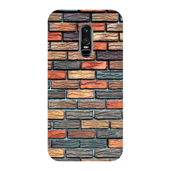 Brick wall- Printed Hard Back Case Cover for OnePlus 6