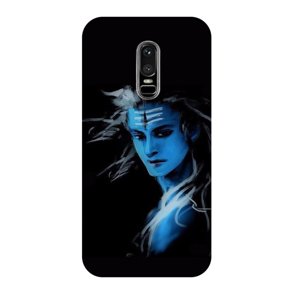 Blue Black Shiva OnePlus 6 Back Cover-Hamee India