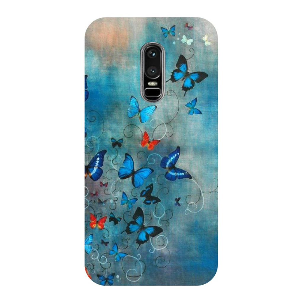Butterflies OnePlus 6 Back Cover-Hamee India