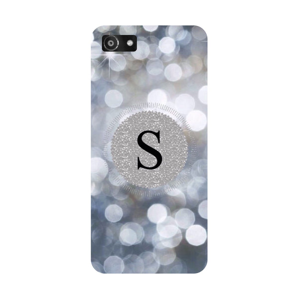 Hamee- Silver S-Printed Hard Back Case Cover For Oppo RealMe 1