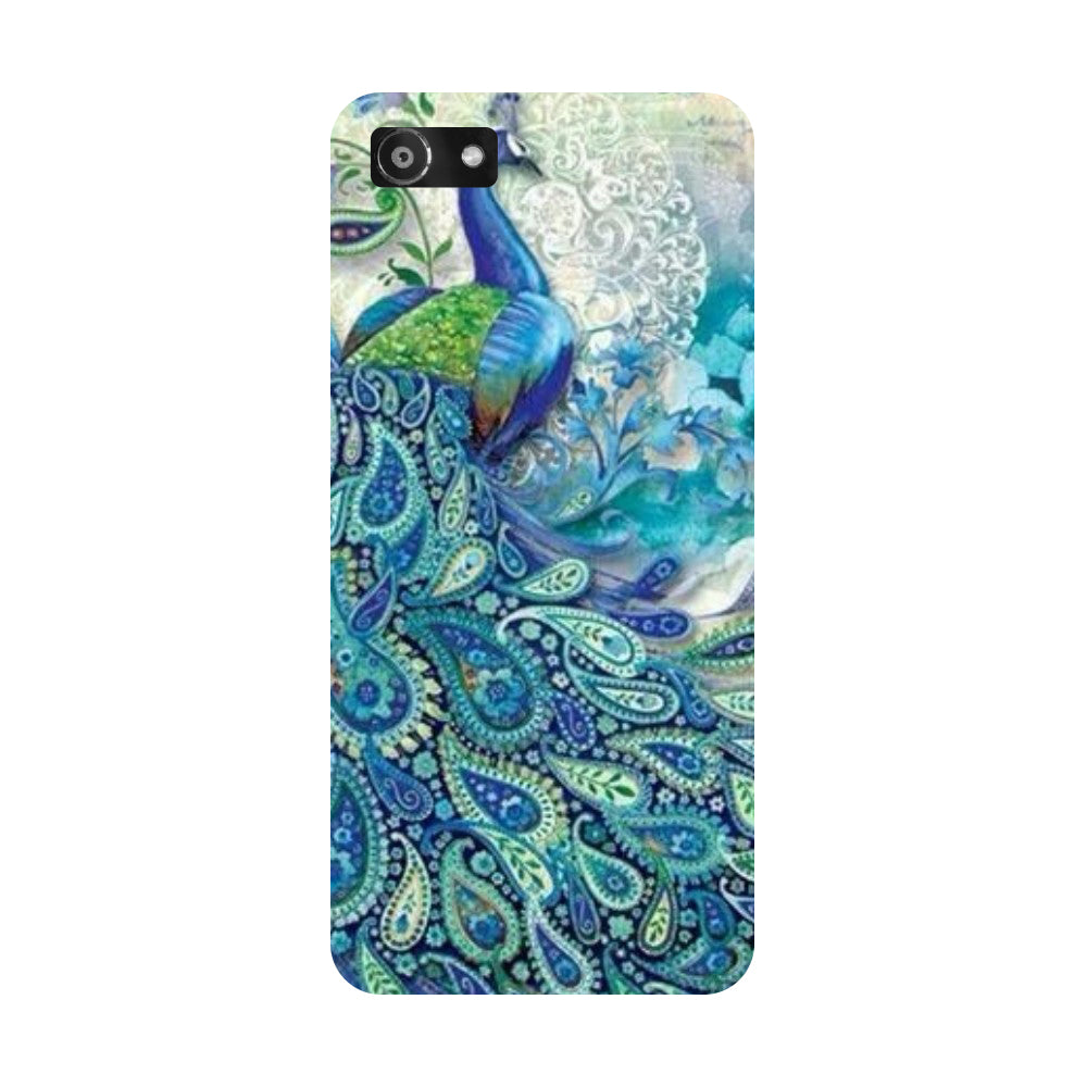 Blue Peacock Oppo Realme 1 Back Cover-Hamee India