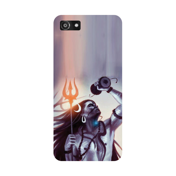 Hamee- Purple shivji-Printed Hard Back Case Cover For Oppo RealMe 1
