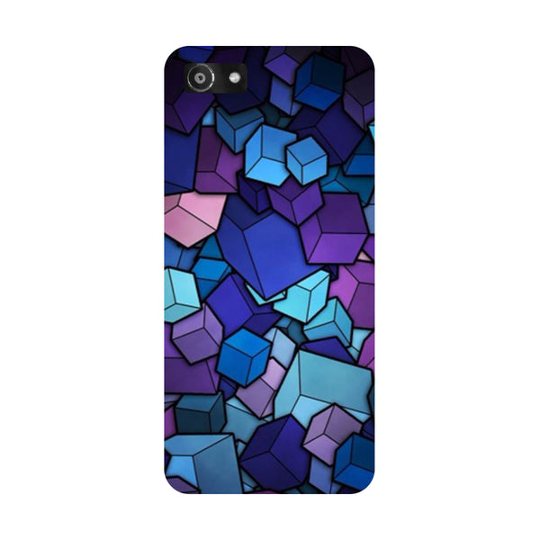 Hamee- Cubes-Printed Hard Back Case Cover For Oppo A3
