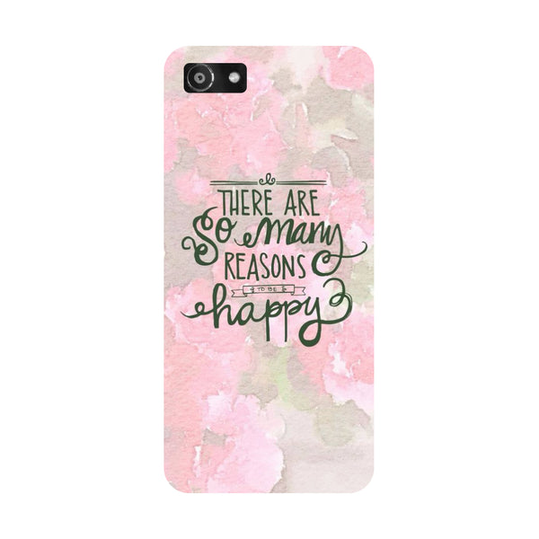 Hamee- Be Happy-Printed Hard Back Case Cover For Oppo A3