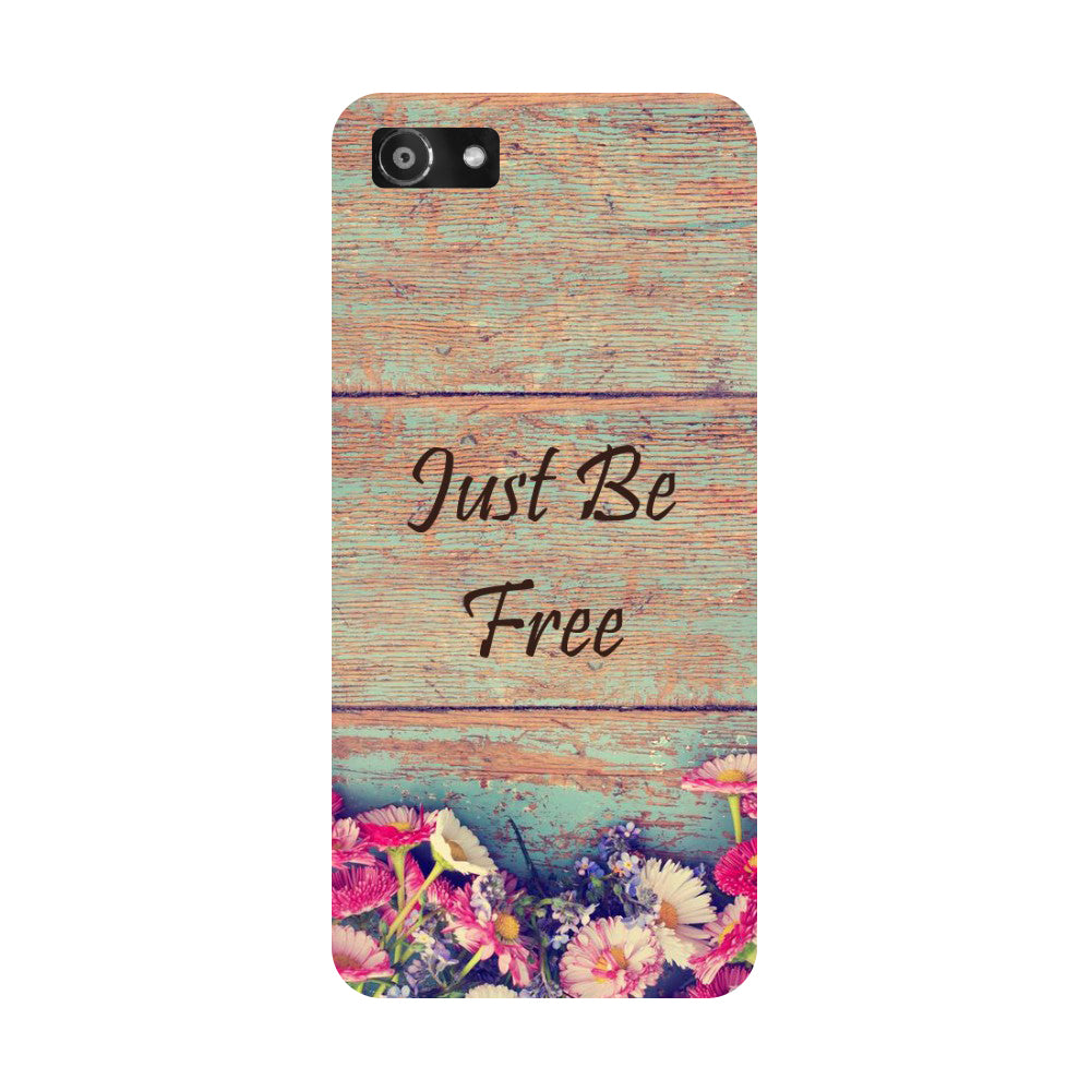 Hamee- Be free-Printed Hard Back Case Cover For Oppo RealMe 1
