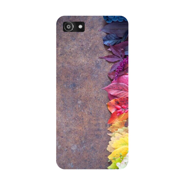Hamee- Side flowers-Printed Hard Back Case Cover For Oppo RealMe 1
