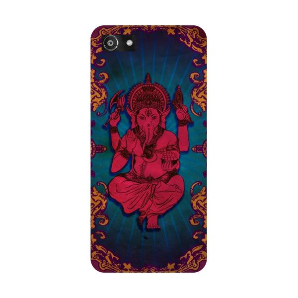Hamee- Red Ganesha-Printed Hard Back Case Cover For Oppo RealMe 1