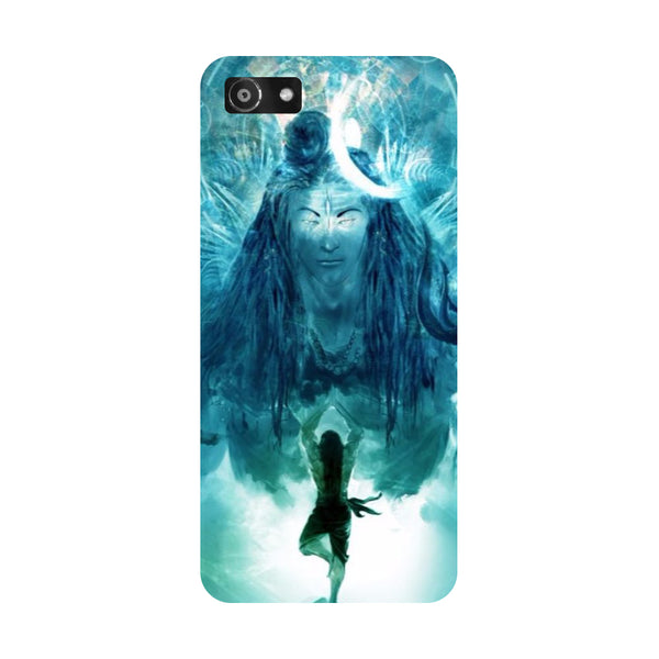 Hamee- Standing shiv ji-Printed Hard Back Case Cover For Oppo RealMe 1