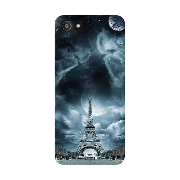Hamee- Blue Eiffel-Printed Hard Back Case Cover For Oppo A3