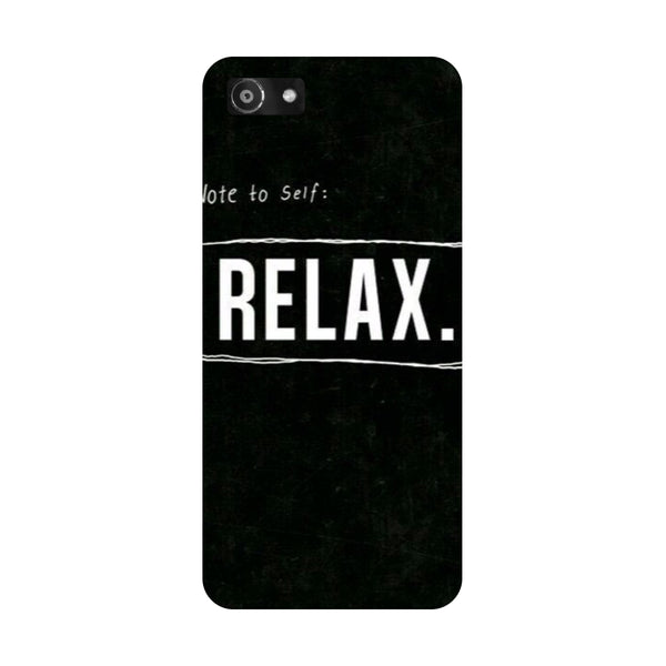 Hamee- Relax-Printed Hard Back Case Cover For Oppo RealMe 1