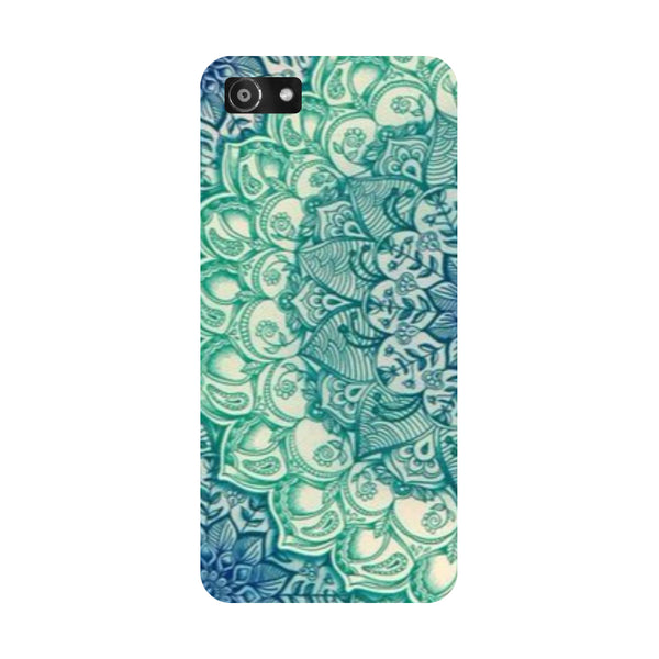 Hamee- Blue Mandala-Printed Hard Back Case Cover For Oppo RealMe 1
