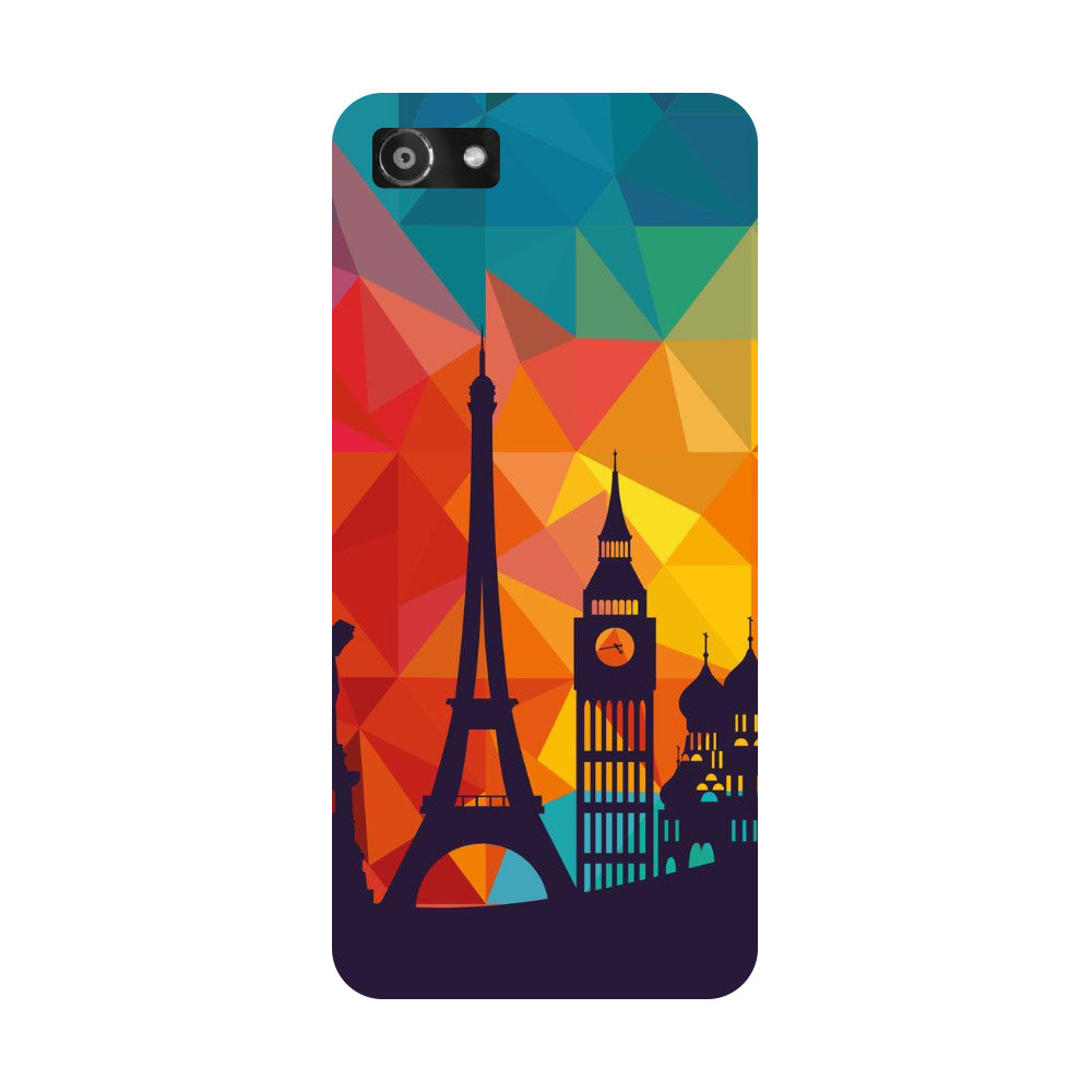 Hamee- seven wonders-Printed Hard Back Case Cover For Oppo A3-Hamee India