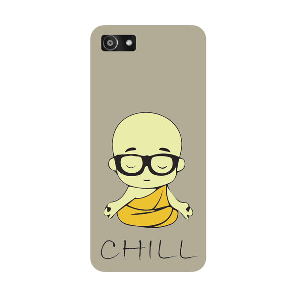 Hamee- Chill Buddha-Printed Hard Back Case Cover For Oppo A3
