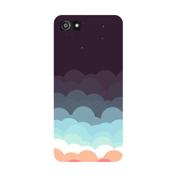 Hamee- Clouds-Printed Hard Back Case Cover For Oppo RealMe 1