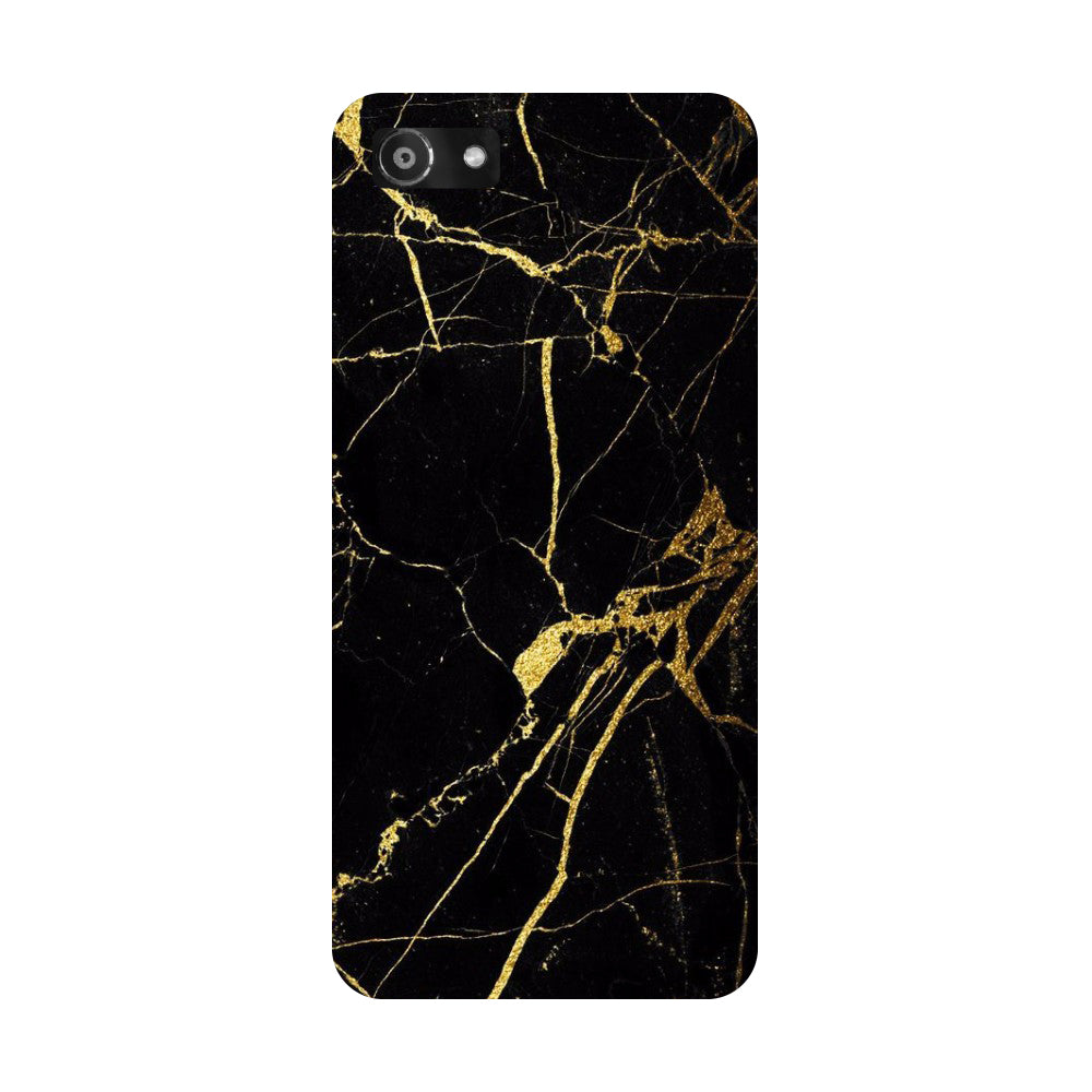 Hamee- Black marble-Printed Hard Back Case Cover For Oppo A3