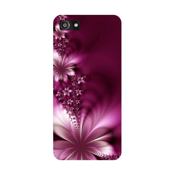 Hamee- Purple flowers-Printed Hard Back Case Cover For Oppo RealMe 1
