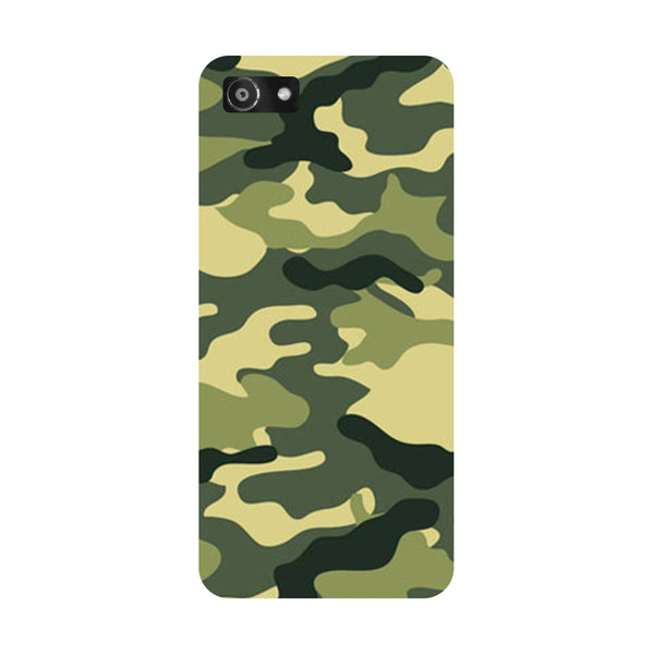 Hamee- Army Camouflage-Printed Hard Back Case Cover For Oppo A3