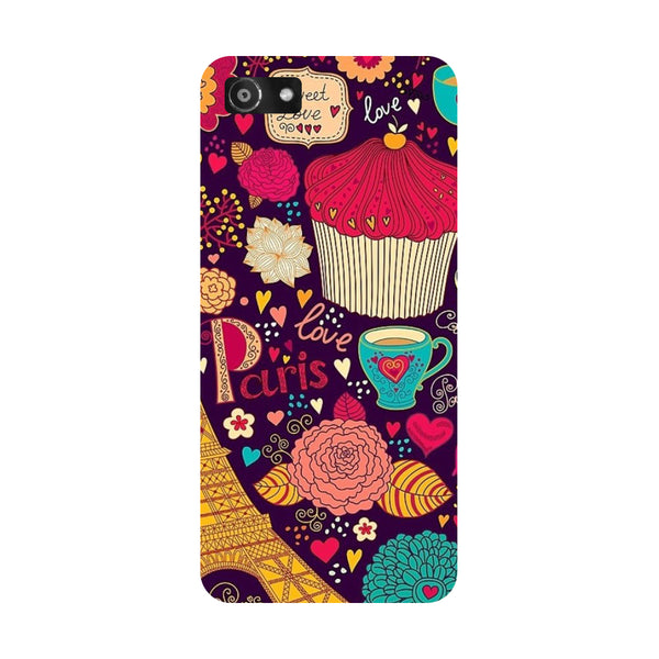 Hamee- Cupcake-Printed Hard Back Case Cover For Oppo RealMe 1