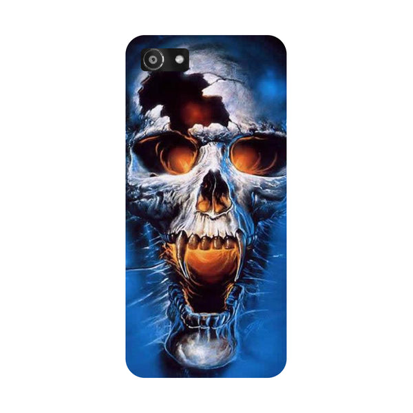 Hamee- Skull blue-Printed Hard Back Case Cover For Oppo RealMe 1