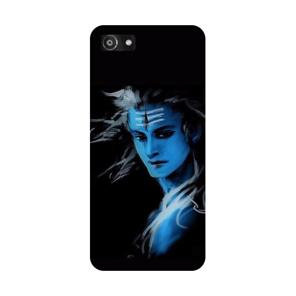 Hamee- Blue black Shiva-Printed Hard Back Case Cover For Oppo A3-Hamee India