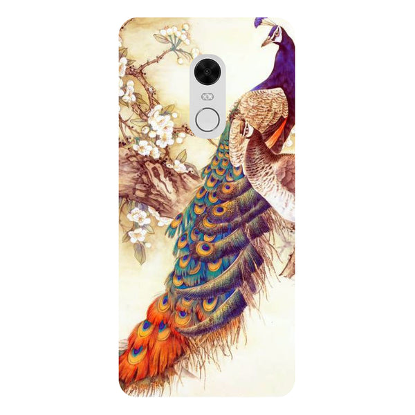 Yellow Peacock - Printed Hard Back Case Cover for Redmi Note 5